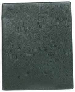 Louis Vuitton Green Taiga Leather Diary Note Book Cover 871425