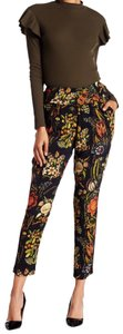 Desigual Tapered Pockets Floral Trouser Pants Multicolor