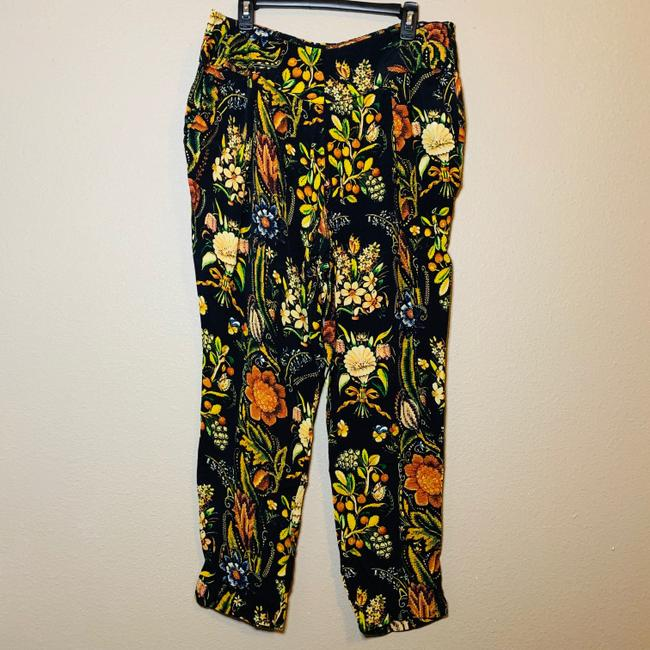 Desigual Tapered Pockets Floral Trouser Pants Multicolor Image 1