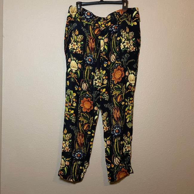 Desigual Tapered Pockets Floral Trouser Pants Multicolor Image 5