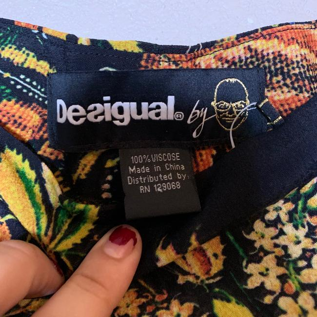 Desigual Tapered Pockets Floral Trouser Pants Multicolor Image 6