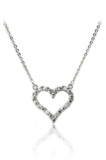 Ocean Fashion Elegant heart crystal necklace earrings set Image 3