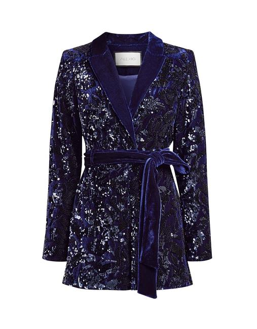 Item - Blue Pamina Sequin Romper/Jumpsuit