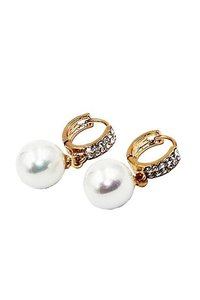 Ocean Fashion Fashion pearl gold earrings
