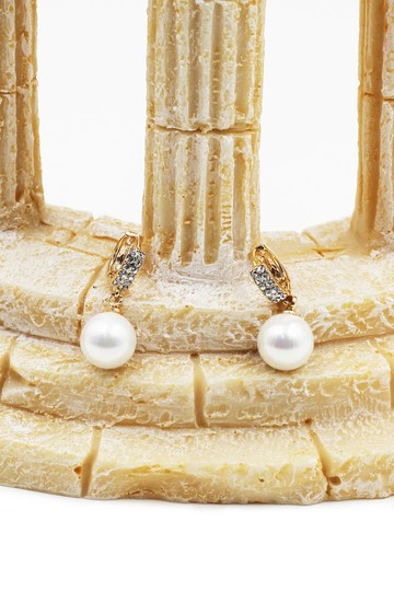 Ocean Fashion Fashion pearl gold earrings Image 2