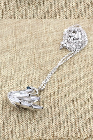 Ocean Fashion Sterling silver swan crystal pendant necklace Image 1