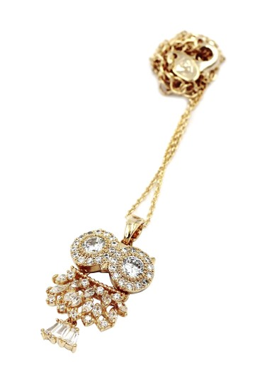 Ocean Fashion Gold owl crystal necklace Image 1