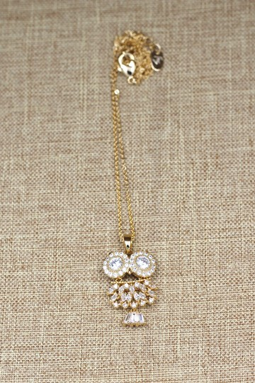 Ocean Fashion Gold owl crystal necklace Image 4