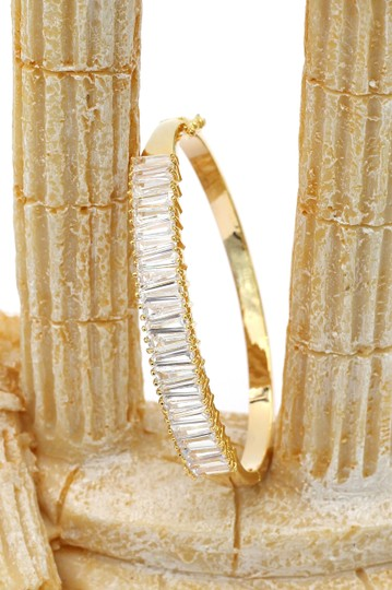 Ocean Fashion Noble gold crystal row bracelet Image 2