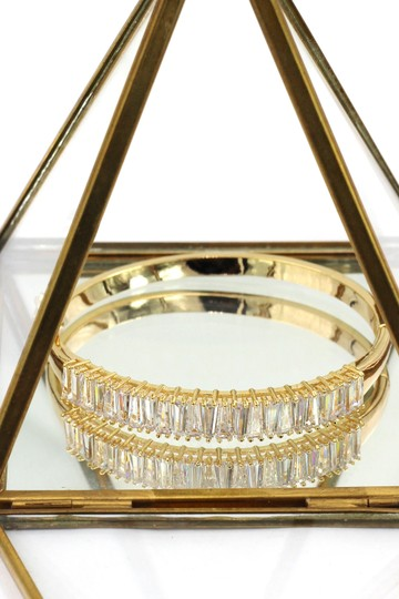 Ocean Fashion Noble gold crystal row bracelet Image 4