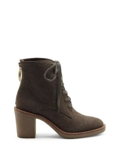 Lucky Brand khaki flannel Boots Image 1