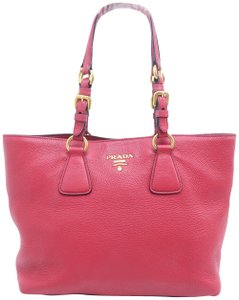 Prada Calfskin Cuir Double Shoulder Bag