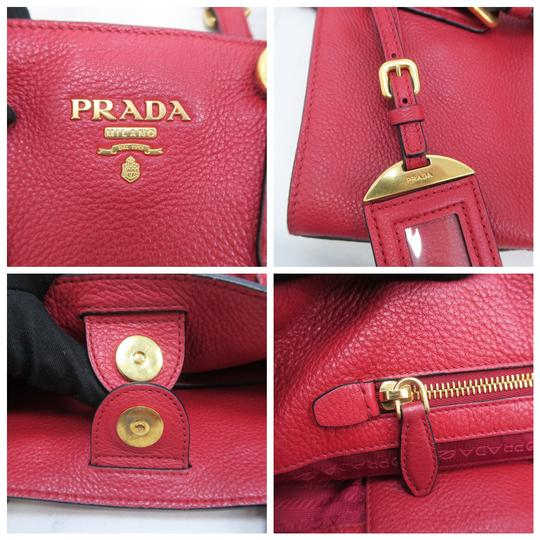 Prada Calfskin Cuir Double Shoulder Bag Image 8