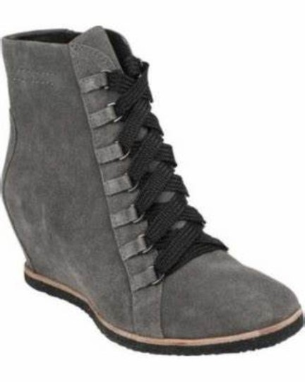 Earth Charcoal Grey Suede Boots Image 1
