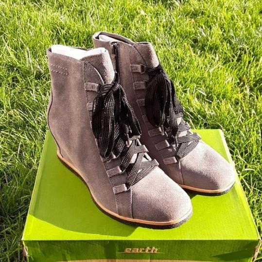 Earth Charcoal Grey Suede Boots Image 2