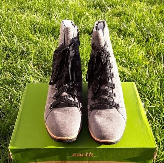 Earth Charcoal Grey Suede Boots Image 3