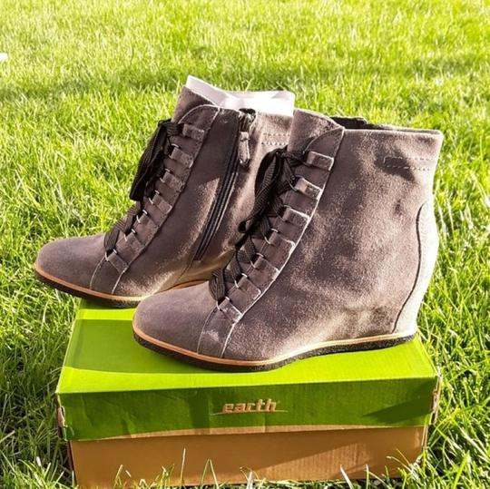 Earth Charcoal Grey Suede Boots Image 4