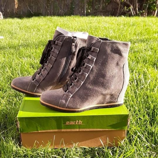 Earth Charcoal Grey Suede Boots Image 5