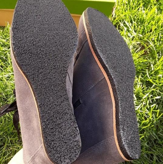 Earth Charcoal Grey Suede Boots Image 7