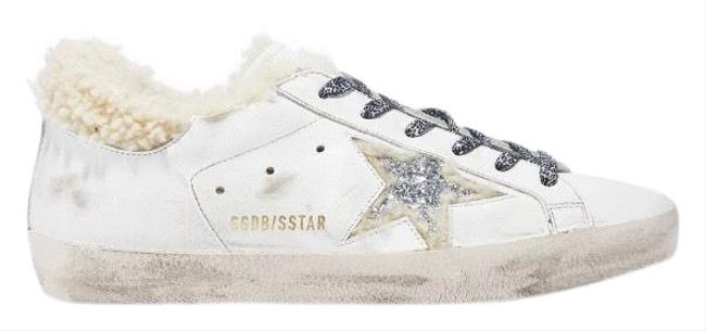 Item - Super Star Shearling Fur Lined Distressed Leather Sneakers Size EU 38 (Approx. US 8) Regular (M, B)