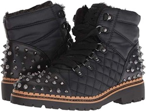 Sam Edelman Black High Shine Nylon Boots