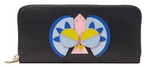 Kate Spade Authentic Kate Spade Italian leather Peacock zip wallet