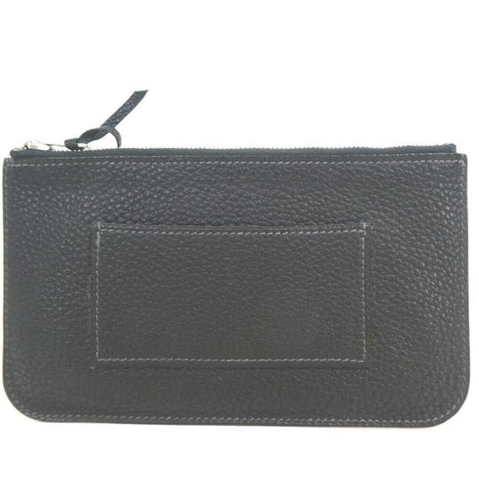 Hermes Auth Hermes Dogon Gm Square F Stamp Leather Wallet #1469H20 Image 1