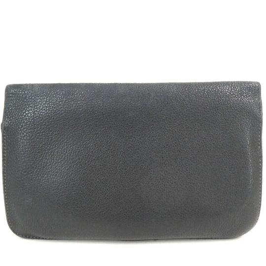 Hermes Auth Hermes Dogon Gm Square F Stamp Leather Wallet #1469H20 Image 2