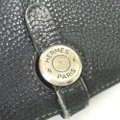 Hermes Auth Hermes Dogon Gm Square F Stamp Leather Wallet #1469H20 Image 4