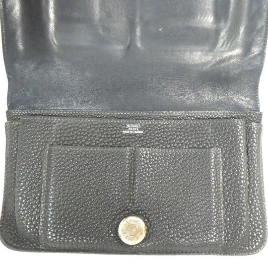 Hermes Auth Hermes Dogon Gm Square F Stamp Leather Wallet #1469H20 Image 5