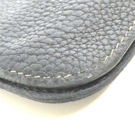 Hermes Auth Hermes Dogon Gm Square F Stamp Leather Wallet #1469H20 Image 10