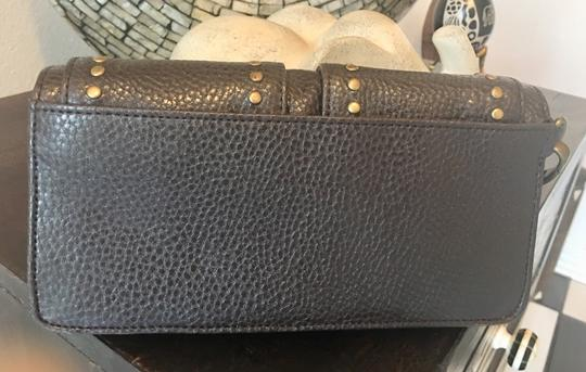 Ann Taylor LOFT Wristlet in chocolate and gold Image 2