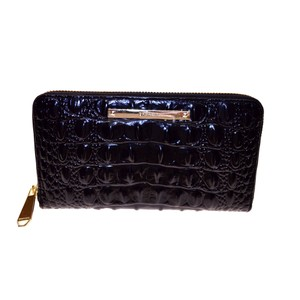 Brahmin Zipper Closure Suri Wallet Black Melbourne Clutch