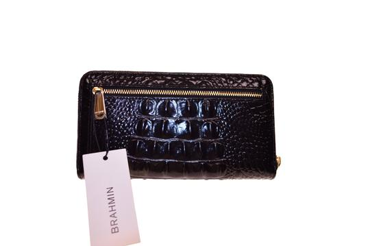 Brahmin Zipper Closure Suri Wallet Black Melbourne Clutch Image 4