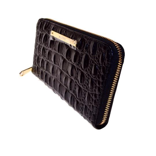Brahmin Zipper Closure Suri Wallet Black Melbourne Clutch Image 5