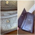 Gucci Guccissima Cocoa Brown Leather Continental Long Bifold Wallet 146199 Image 10