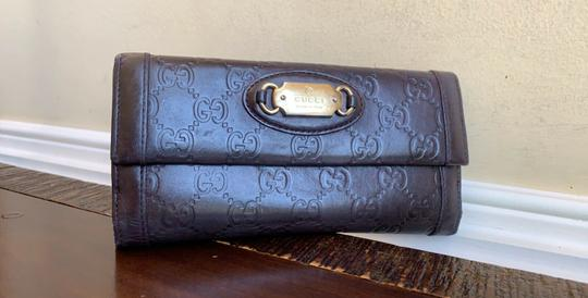 Gucci Guccissima Cocoa Brown Leather Continental Long Bifold Wallet 146199 Image 11