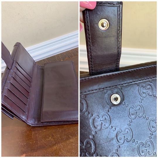 Gucci Guccissima Cocoa Brown Leather Continental Long Bifold Wallet 146199 Image 5