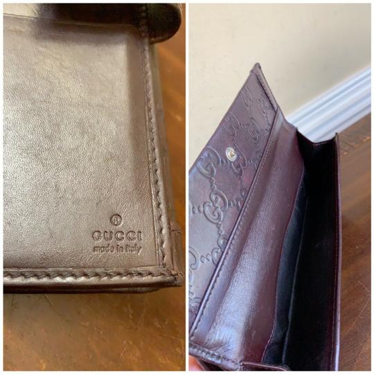 Gucci Guccissima Cocoa Brown Leather Continental Long Bifold Wallet 146199 Image 7