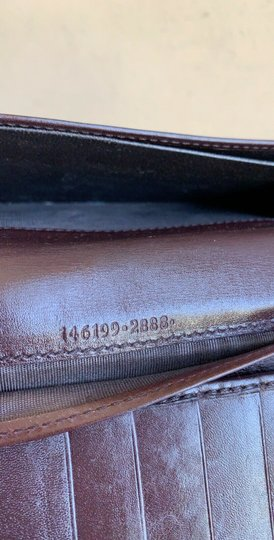 Gucci Guccissima Cocoa Brown Leather Continental Long Bifold Wallet 146199 Image 8
