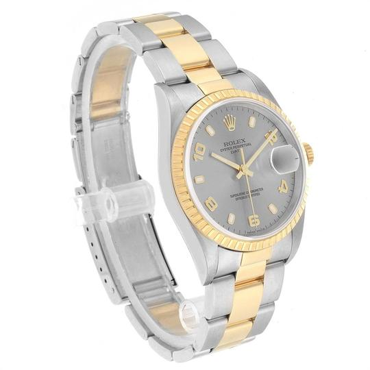 Rolex Rolex Date Steel Yellow Gold Slate Dial Mens Watch 15223 Image 2