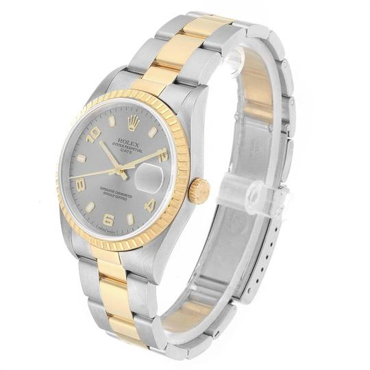 Rolex Rolex Date Steel Yellow Gold Slate Dial Mens Watch 15223 Image 3