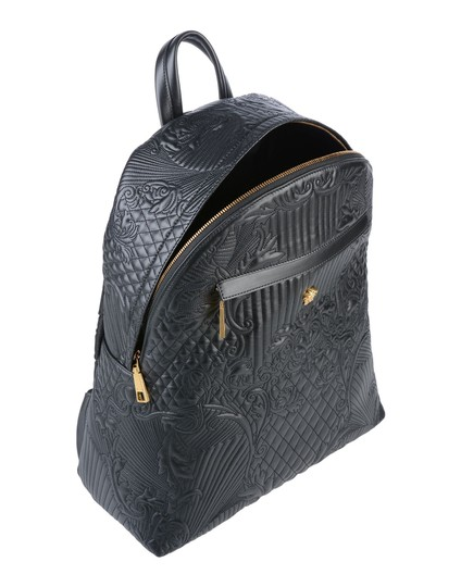 VERSACE Designer Italian Leather Backpack Image 1