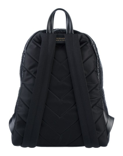 VERSACE Designer Italian Leather Backpack Image 2