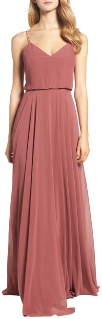 Item - Cinnamon Rose Inesse Chiffon Bridesmaids Gown Long Formal Dress Size 14 (L)