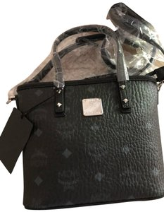 MCM Tote in Black Grey