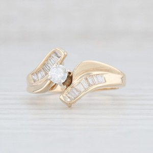 Yellow Gold .53ctw Diamond - 14k Size 7 Bypass Engagement Ring