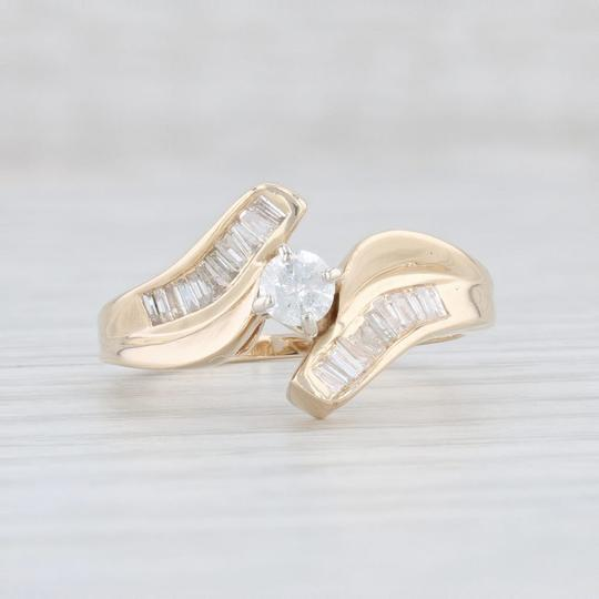 Yellow Gold .53ctw Diamond - 14k Size 7 Bypass Engagement Ring Image 1