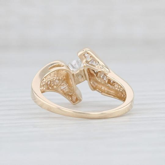 Yellow Gold .53ctw Diamond - 14k Size 7 Bypass Engagement Ring Image 3