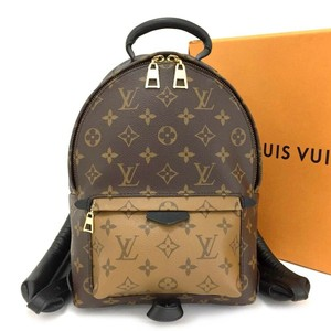 Louis Vuitton Leather Canvas Palm Springs Backpack